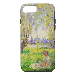 Monet Woman Seated Under The Willows Fine Art iPhone 7 Case