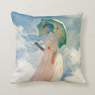 Monet Woman With A Parasol Throw Pillow