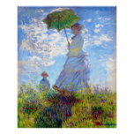 Monet: Woman with Parasol Impressionist Art ~ Print