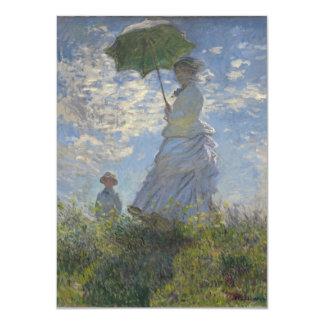 """Monet Woman With Parasol 4.5"""" X 6.25"""" Invitation Card"""