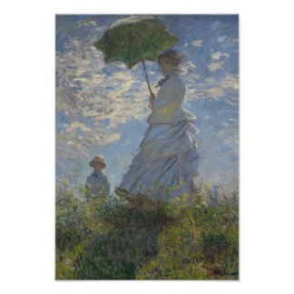 Monet Woman With Parasol Poster