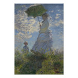 Monet Woman With Parasol Posters