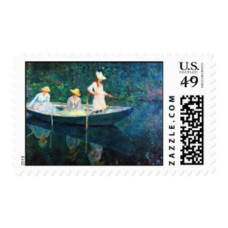 Monet Women Fishing Postage Stamps
