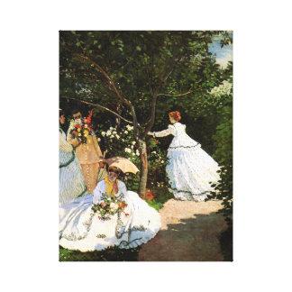 Monet Women in the Garden Canvas Print