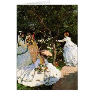 Monet Women in the Garden Greeting Card