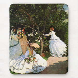 Monet Women in the Garden Mouse Pad