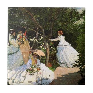 Monet Women in the Garden Tile