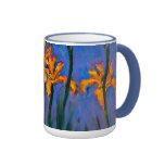 Monet- Yellow Irises Coffee Mug