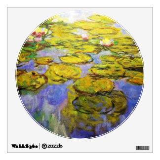 Monet Yellow Lily Pads Wall Sticker