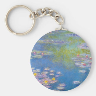 Monet Yellow Water Lilies Key Chain