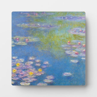 Monet Yellow Water Lilies Plaque