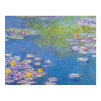Monet Yellow Water Lilies Postcard