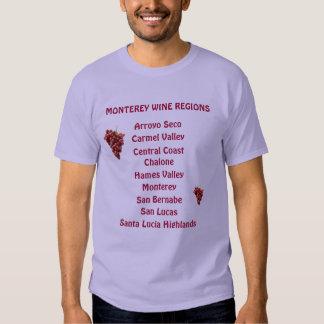 Monetery Wine Regions Men's Basic Dark Shirt
