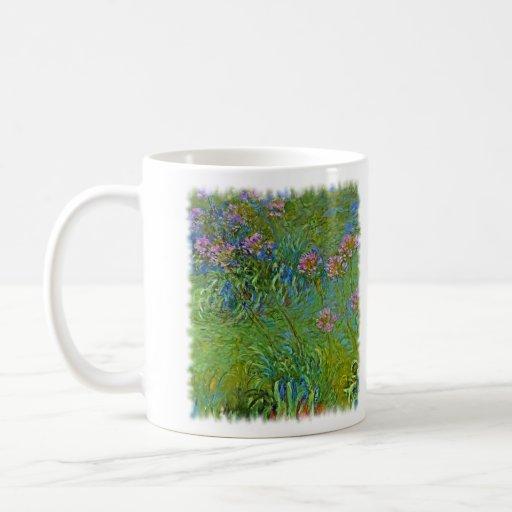 Monet's Agapanthus Flowers Coffee Mugs