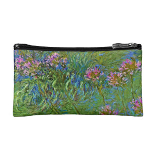 Monet's Agapanthus Flowers Cosmetic Bag
