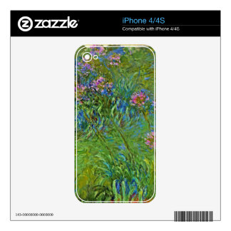 Monet's Agapanthus Flowers iPhone 4S Skins