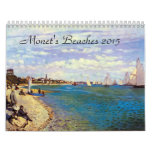 Monets Beaches 2015 Art Calendar