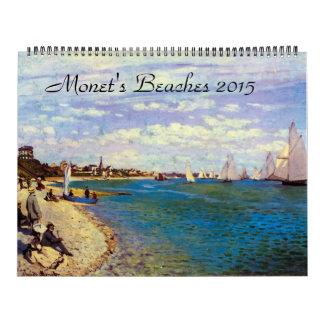 Monets Beaches 2015 Giant Art Calendar