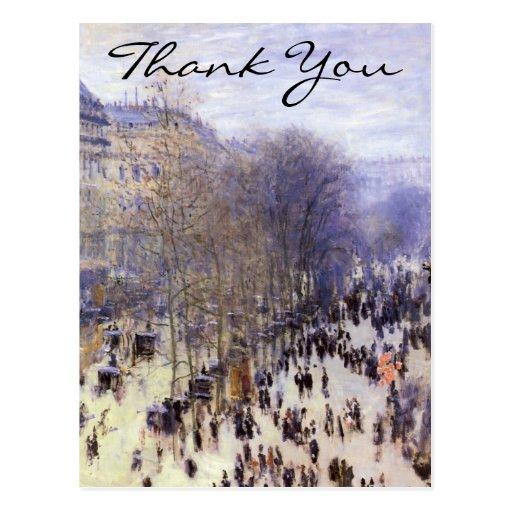 Monet's Boulevard des Capucines Postcard