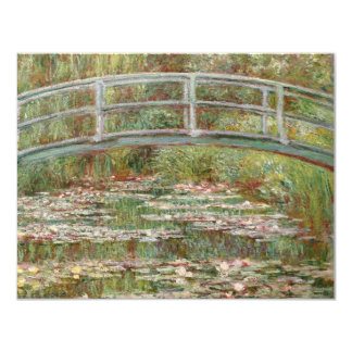 """Monet's """"Bridge Over a Pond of Water Lilies"""" 1899 4.25x5.5 Paper Invitation Card"""