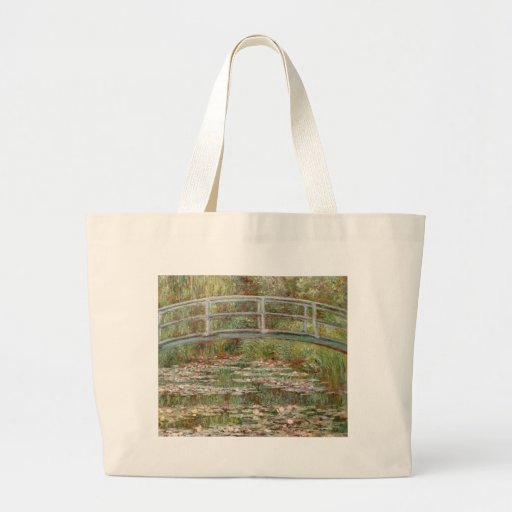 """Monet's """"Bridge Over a Pond of Water Lilies"""" 1899 Tote Bags"""