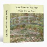 """Monet's """"Bridge Over a Pond of Water Lilies"""" 1899 Vinyl Binder"""
