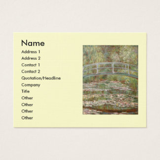 "Monet's ""Bridge Over a Pond of Water Lilies"" 1899 Business Card"
