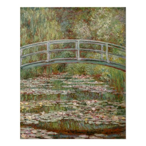 """Monet's """"Bridge Over a Pond of Water Lilies"""" 1899 Print"""