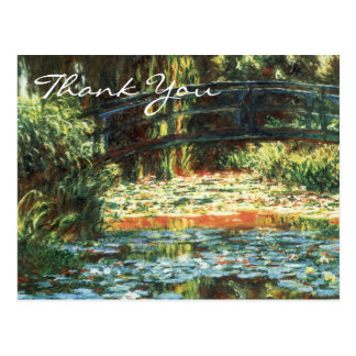 Monet's Bridge Over The Water Lily Pond Postcard