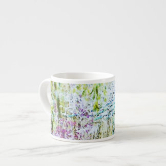 Monet's Bridge with Flowers Espresso Cup