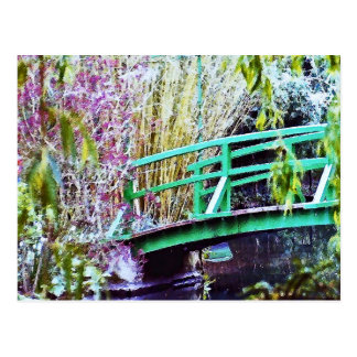 Monet's Bridge with Flowers Postcard