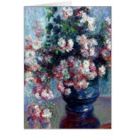 Monet's Chrysanthemums Fine Art Greeting Card