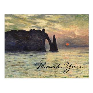 Monet's Cliff, Etretat, Sunset Postcard