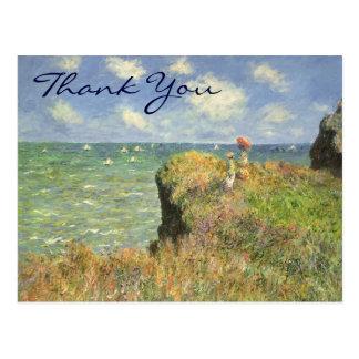 Monet's Cliff Walk at Pourville Postcard