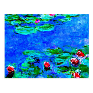 Monet's famous painting, Water Lilies (macro view) Postcard