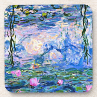 Monet's famous Water Lilies (pink) Beverage Coasters