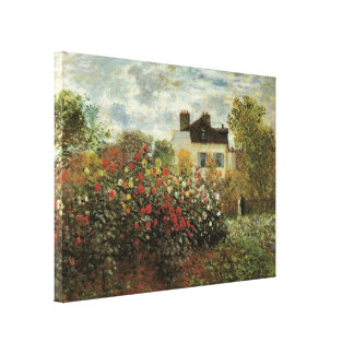 Monet's Garden at Argenteuil by Claude Monet Canvas Print