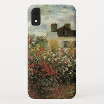 Monet's Garden at Argenteuil by Claude Monet iPhone XR Case