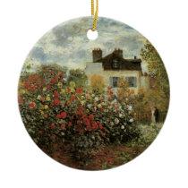 Monet's Garden at Argenteuil by Claude Monet Ceramic Ornament