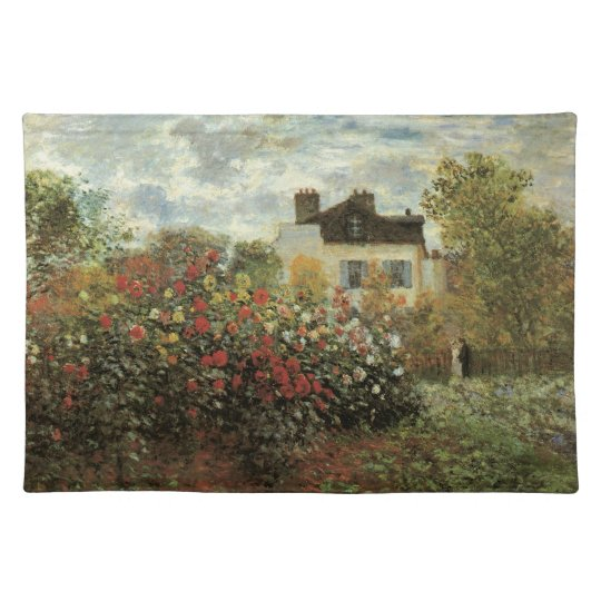 Monet's Garden at Argenteuil by Claude Monet Cloth Placemat