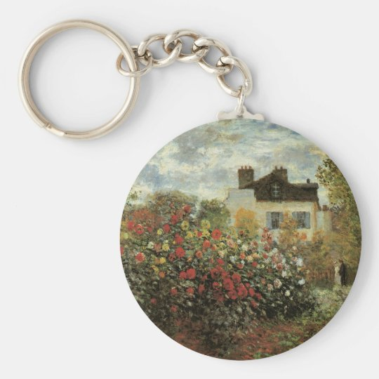 Monet's Garden at Argenteuil by Claude Monet Keychain