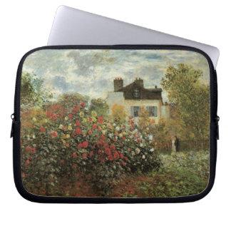 Monet's Garden at Argenteuil by Claude Monet Laptop Sleeve