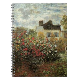Monet's Garden at Argenteuil by Claude Monet Notebook