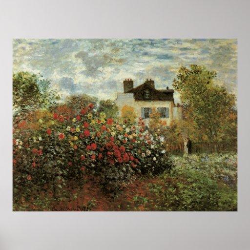 Monet's Garden at Argenteuil by Claude Monet Poster