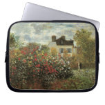 Monet's Garden at Argenteuil Vintage Impressionism Laptop Sleeve
