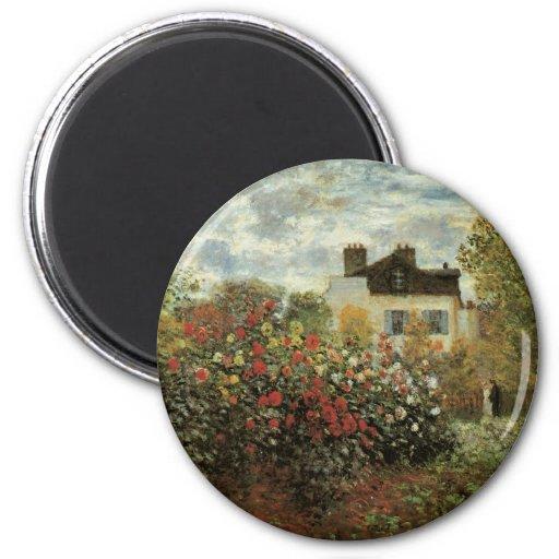 Monet's Garden at Argenteuil Vintage Impressionism Magnets