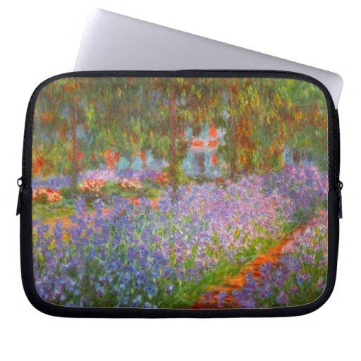 Monet's Garden by Claude Monet Computer Sleeve