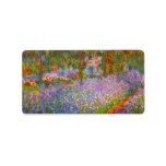 Monet's Garden by Claude Monet Personalized Address Label