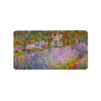 Monet's Garden by Claude Monet Label