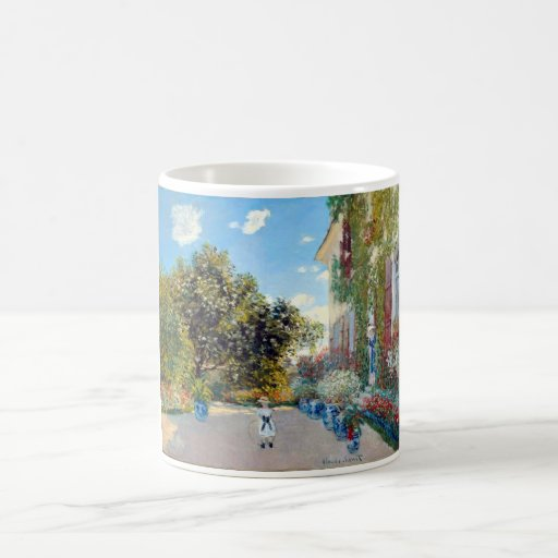 Monet's Garden Classic White Coffee Mug